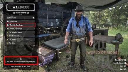 Одежда в лагере в RDR 2