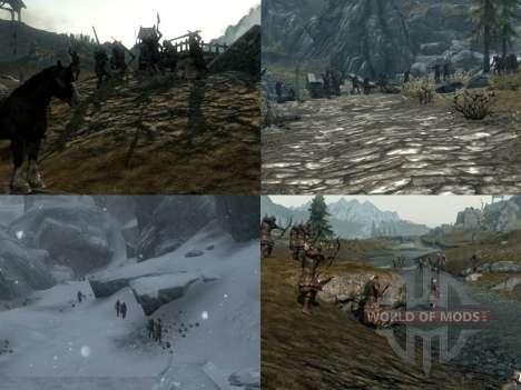 Больше войны на просторах Скайрима для Skyrim второй скриншот
