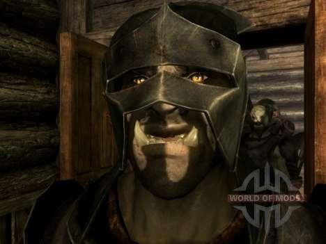 Урук-хай Лурц и раскраска урук-хаев для орков для Skyrim второй скриншот
