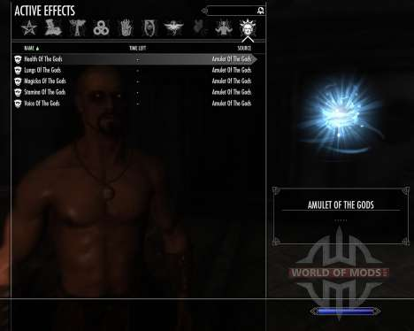 Амулет богов для Skyrim второй скриншот