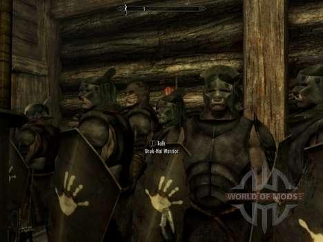 Урук-хай Лурц и раскраска урук-хаев для орков для Skyrim третий скриншот