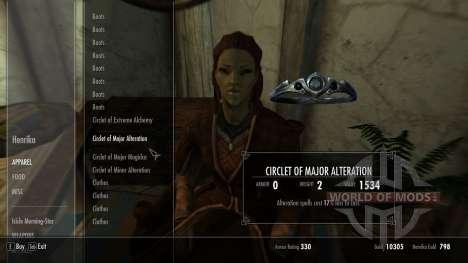 Торговец одеждой в Вайтране для Skyrim третий скриншот