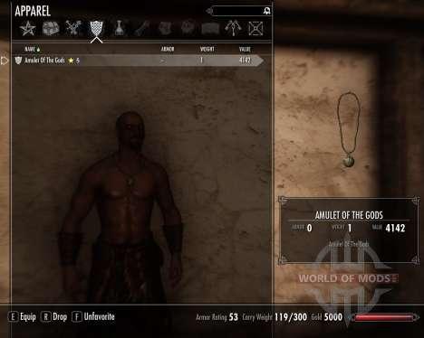 Амулет богов для Skyrim третий скриншот