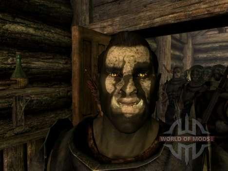 Урук-хай Лурц и раскраска урук-хаев для орков для Skyrim четвертый скриншот