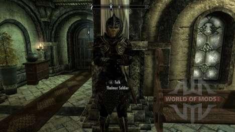 Черно-золотая эльфийская броня для Skyrim третий скриншот