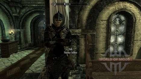 Черно-золотая эльфийская броня для Skyrim четвертый скриншот