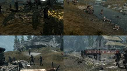 Больше войны на просторах Скайрима для Skyrim