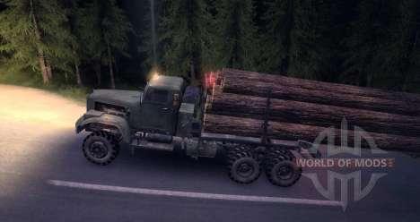 КрАЗ Лесовоз snow old для Spin Tires