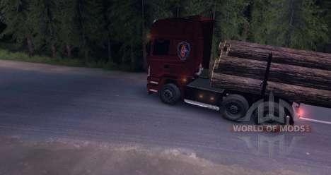 Scania R620 Logging Truck для Spin Tires