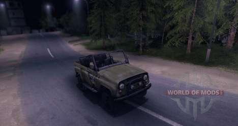 УАЗ-469 v1.0 для Spin Tires