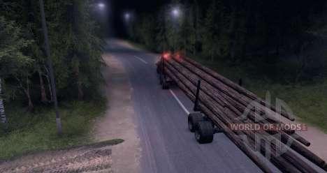 КрАЗ Лесовоз on-road для Spin Tires