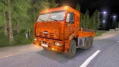 КамАЗ-65117 грязно-оранжевый для Spin Tires
