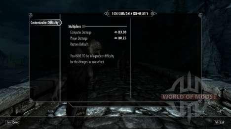 Customizable Difficulty для Skyrim