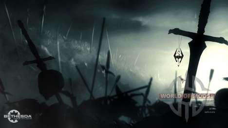 Изменённое главное меню для Skyrim