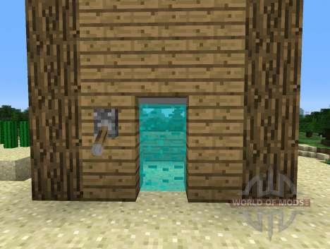 Light Bridges Mod - световые двери для Minecraft