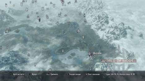More map markers для Skyrim