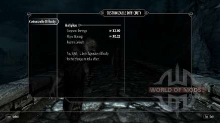 Customizable Difficulty для Skyrim