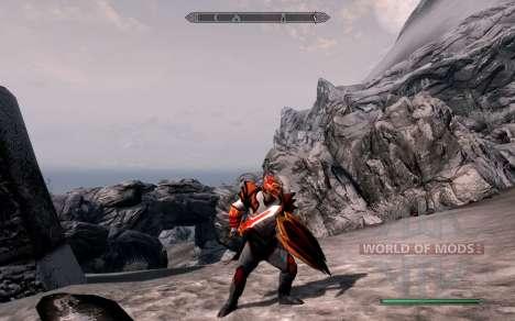 Доспехи и оружие dragon Knight из dota 2 для Skyrim третий скриншот