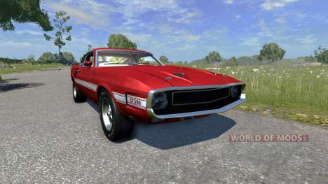 Ford Mustang Shelby GT500 428 Cobra Jet 1969 для BeamNG Drive