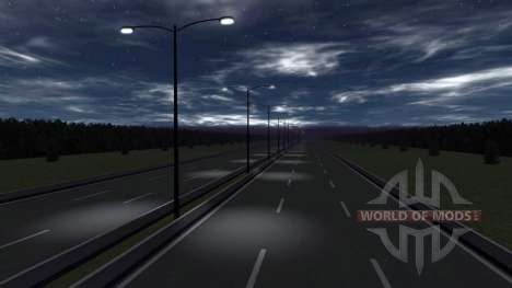 Локация -Шоссе- для BeamNG Drive