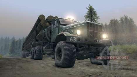 КрАЗ-255Л лесовоз v3.0 для Spin Tires