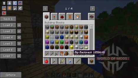 Вместительные рюкзаки для Minecraft