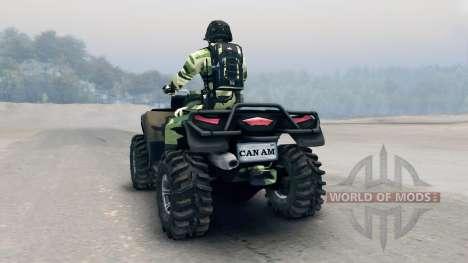 Квадроцикл Outlander v3 для Spin Tires