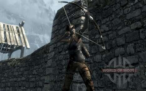 Одежда и оружие Лары Крофт для Skyrim третий скриншот