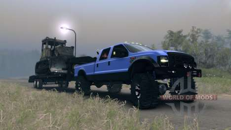 Ford F-350 Super Duty 6.8 2008 GooseNeck для Spin Tires