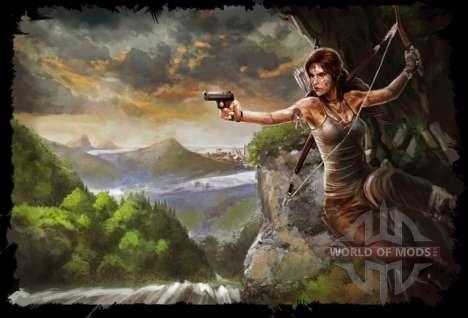 Одежда и оружие Лары Крофт для Skyrim