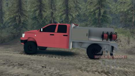 Dodge Ram 1500 brush truck для Spin Tires