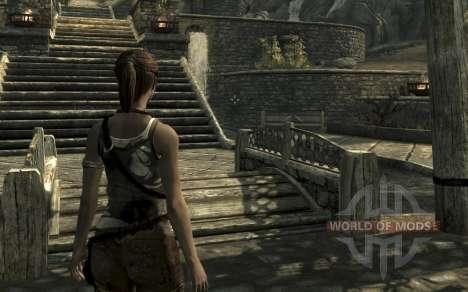 Одежда и оружие Лары Крофт для Skyrim второй скриншот
