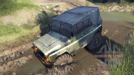 УАЗ-469 Monster Truck v1.1 для Spin Tires