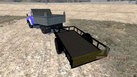 ЗиЛ-130 с прицепом для BeamNG Drive