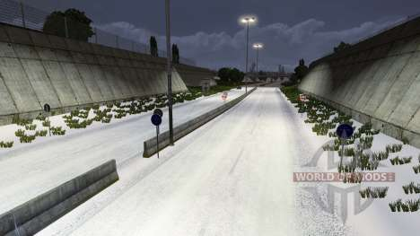 Зима для Euro Truck Simulator 2
