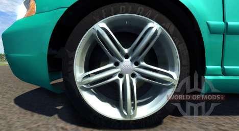 Audi S4 2000 [Pantone Green C] для BeamNG Drive