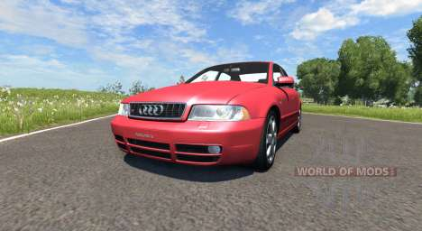 Audi S4 2000 [Pantone Red 032 C] для BeamNG Drive