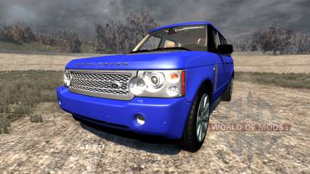 Range Rover Supercharged 2008 [Blue] для BeamNG Drive