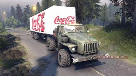 Полуприцеп Coca-Cola для Spin Tires