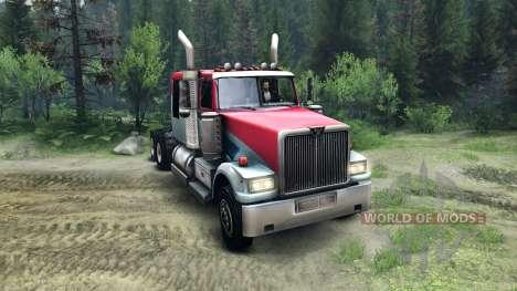 Western Star 4900 LowMax для Spin Tires