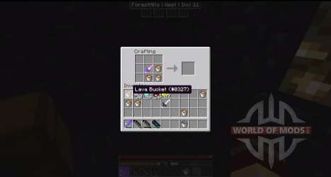 Инструменты из обсидиана и кварца для Minecraft
