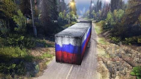 Полуприцеп Россия для Spin Tires