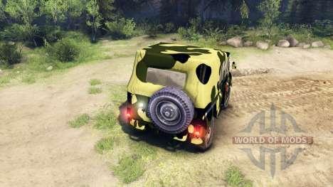 Камуфляжный УАЗ для Spin Tires
