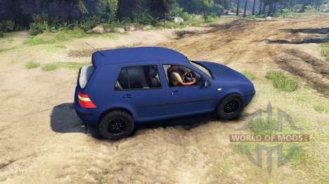 Volkswagen Golf IV для Spin Tires