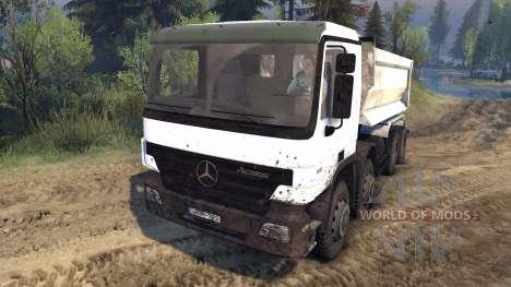 Mercedes-Benz Actros Tipper для Spin Tires