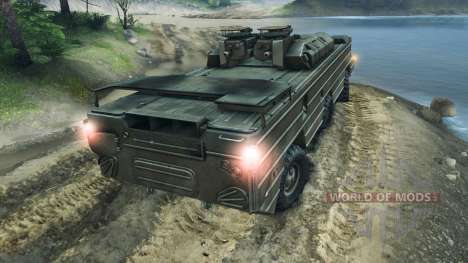 БАЗ-5937 (ЗРК Оса) для Spin Tires