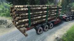 Прицеп-лесовоз для Spin Tires