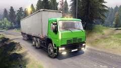 КамАЗ-6522 в зелёном окрасе для Spin Tires