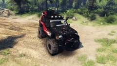 Jeep Cherokee XJ v1.1 Rough Country red dirty для Spin Tires