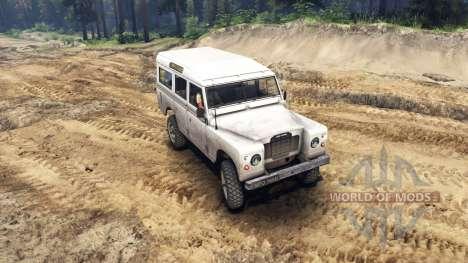 Land Rover Defender White для Spin Tires